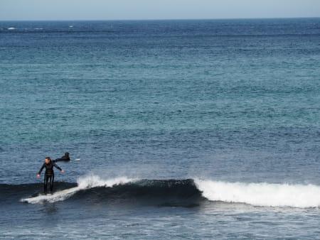 Ukjent surfer på Ervika