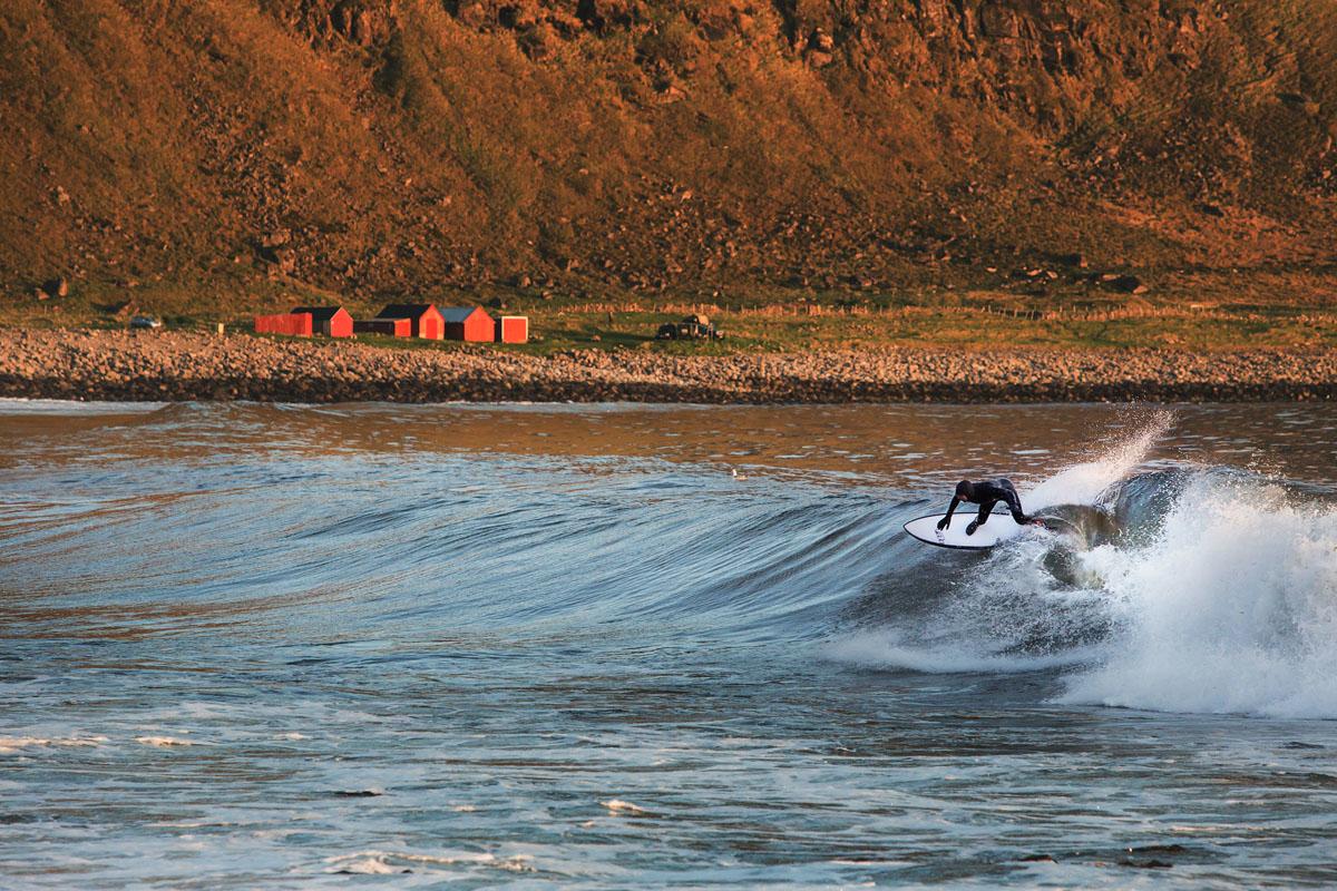 Fant de gode bølgene i Lofoten