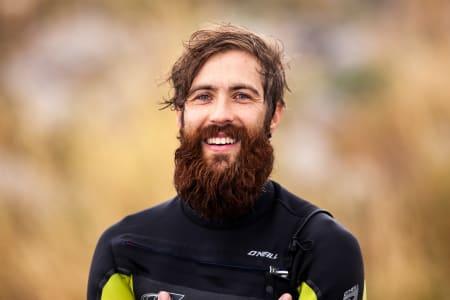 Frode Sandbech og skjegget hans var også på plass. Bilde: Jostein Nilsen