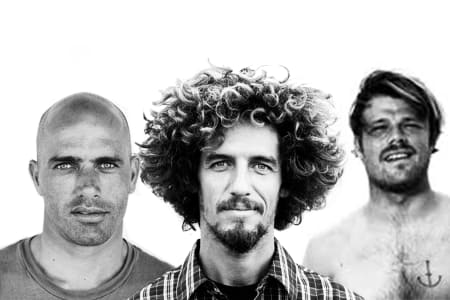 STJEL STILEN: Kelly Slater, Rob Machado og Dane Reynolds er alle forbilder i surfsporten, men hvordan de fremstår med hår og stil varierer ganske mye.