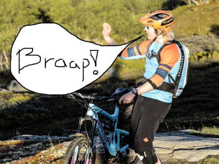 BRAAP! Øyvind Blikken Mæhle har sin egen måte å forklare ting på.
