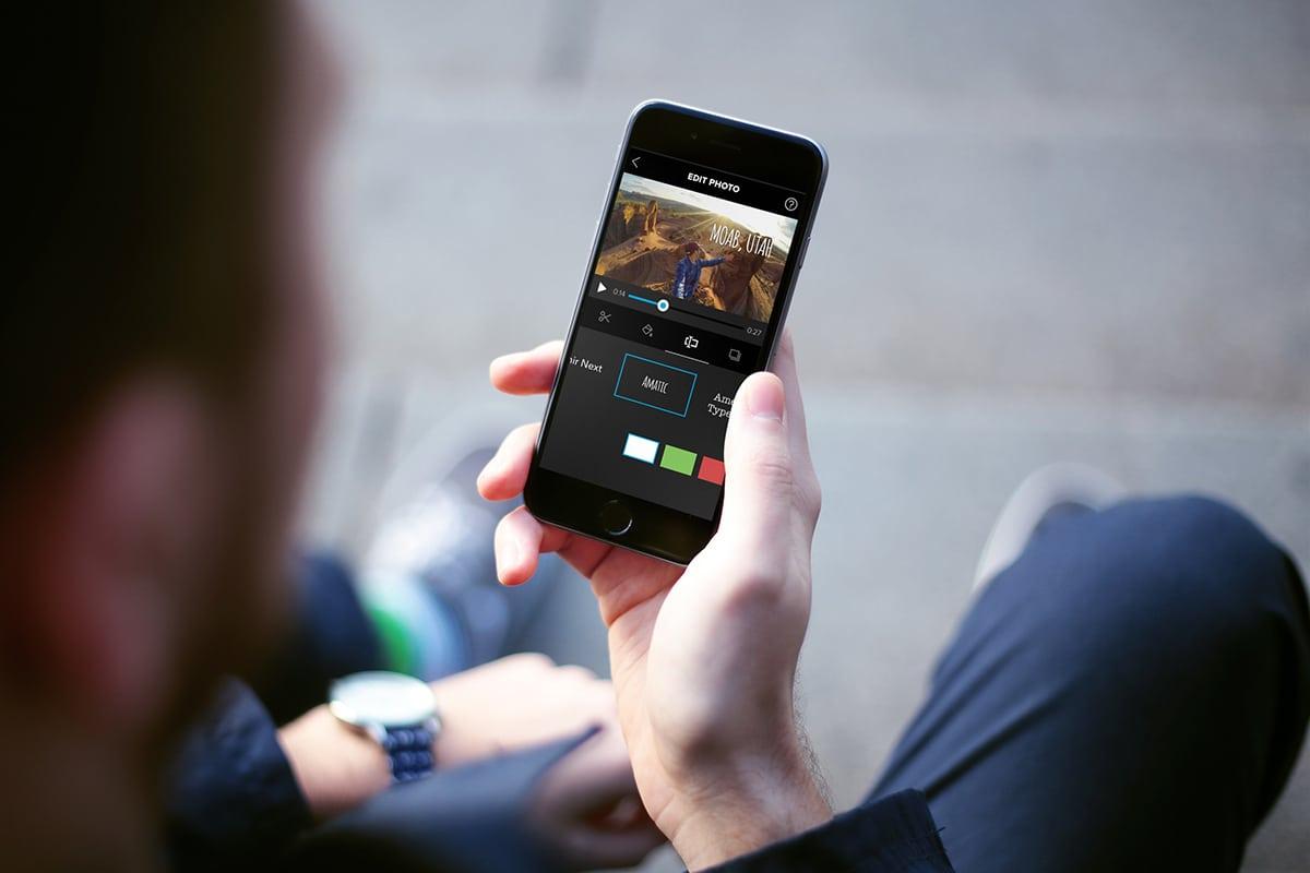 REDIGER: Rediger filmen på mobilen, og last opp på sosiale medier. Foto: Skjermdump