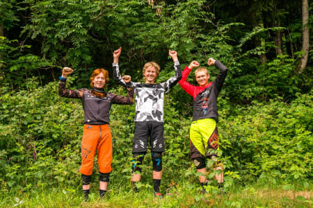 Pallen Junior, 1. plass Jørgen Velure, 2. plass Tobias Utne, 3. plass Falk Håkenstad-Bråten. Foto: Mads Oliver