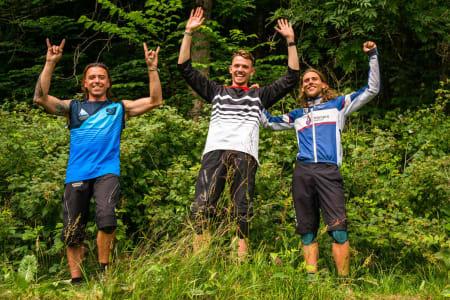 Pallen herrer, 1. plass Preben Nøkleby, 2. plass Marcio Franco, 3. plass Adrian Hilde. Foto: Mads Oliver.