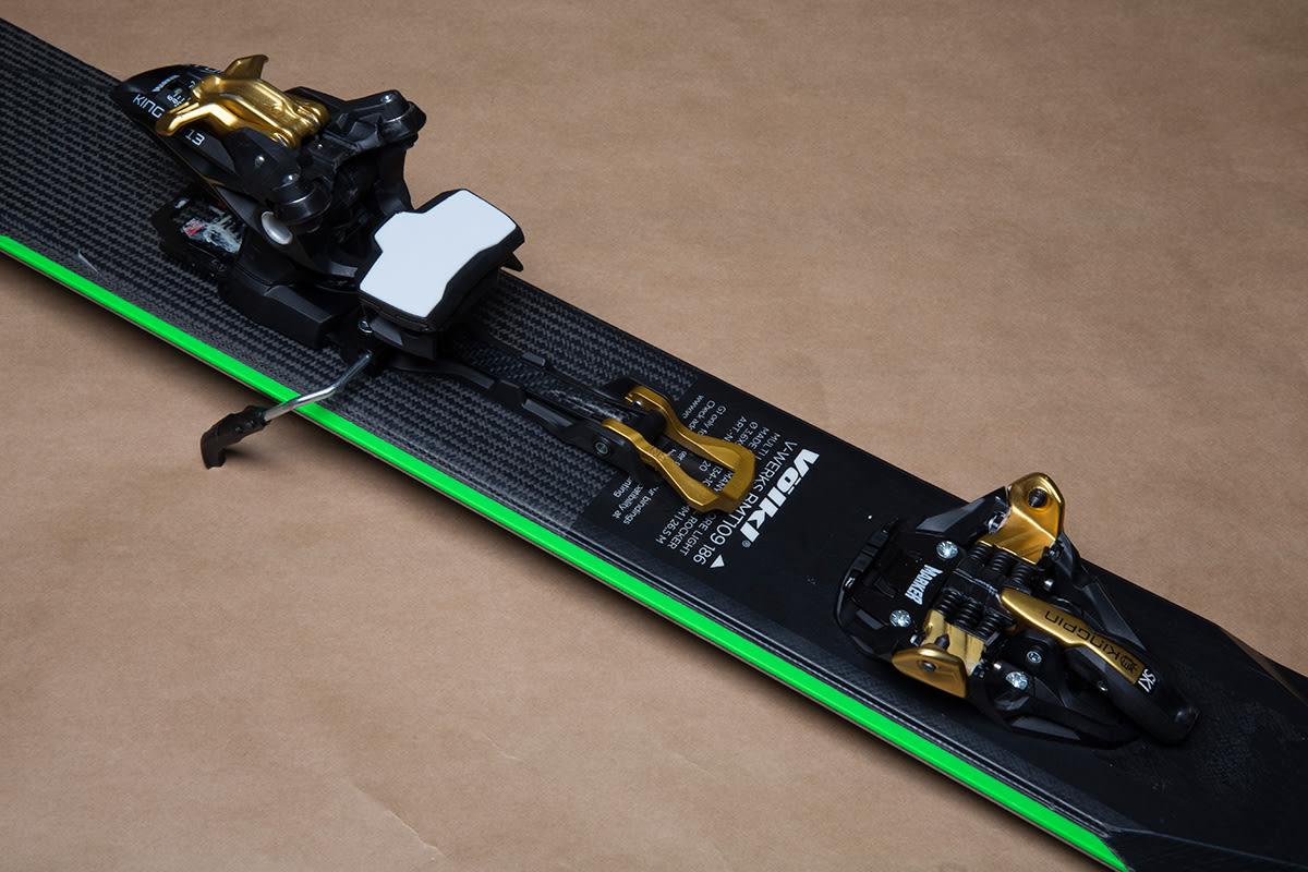 UNIK: Marker Kingpin er eneste binding i testen som har en tradisjonell alpinbakbinding. Foto: Hans Petter Hval