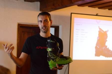 Dynafits støvelsjef Federico Sbrissa er stolt av den nye modellen Vulcan.