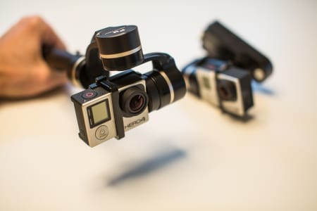 GIMBALLS: Fri Flyt har testet bildestabilisatorene G4S og WG fra Feiyu Tech. Bilde: Christian Nerdrum