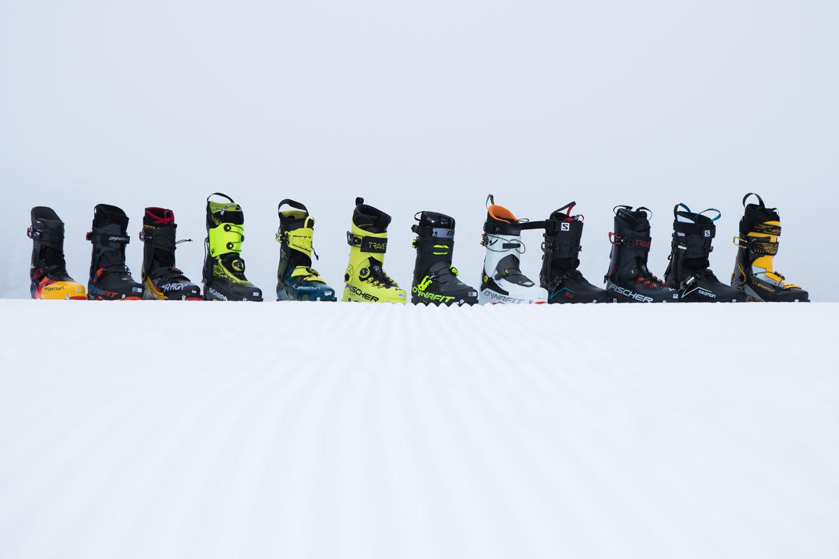 KJEMPETEST: Vi har prøvd hele 12 par av markedets letteste toppturstøvler. Foto: Tore Meirik
