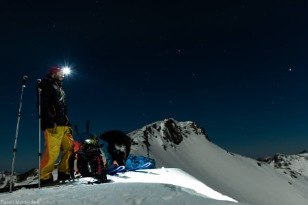 FULLMÅNE: Espen Mortensen fikk skutt flere fantastiske bilder i Lofoten. Foto: Espen Mortensen