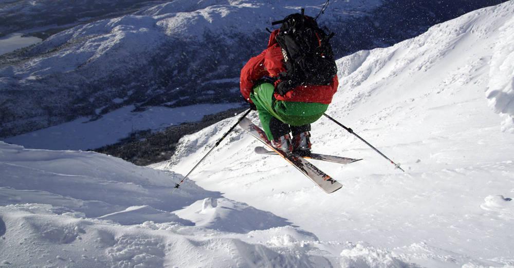 HUCK: ikke noe problem å ordne luft under skiene når forholdene er så bra som de var sist helg! Foto: Ole Marius Elvestad