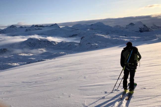 Gode skiforhold på Sognefjellet