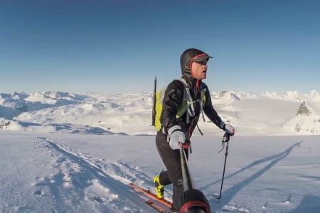 REKORDFORSØK: Stian Hagen gikk lørdag for rekord på høgruta. Foto: Stian Hagen