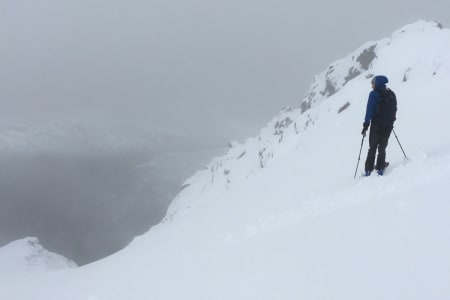 Fra området med den beste skikjøringa på 1400 moh. Foto: Andreas Strand Helland