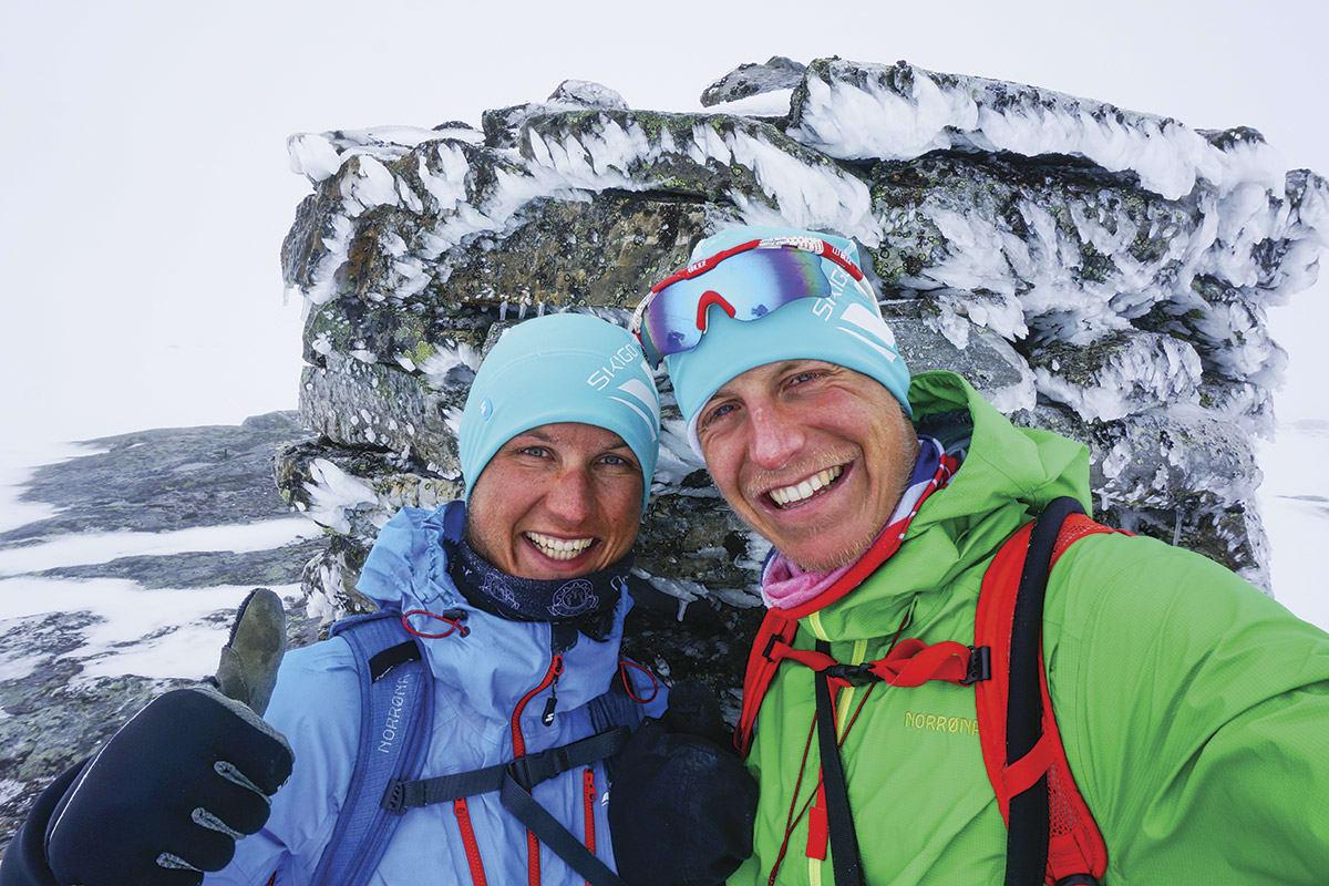 TIL TOPPS: Gjermund Nordskar (t.h) og Wenzel Prokosc i Reisa. Foto: Gjermund Nordskar