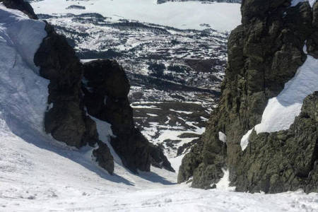 SKIMULIGHETER: Hemsedal er full av skimuligheter. Her fra renna på Skogshorn. Foto: Ole-Kristian Strøm