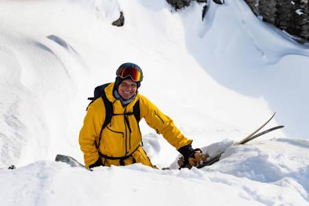 Asbjørn Eggebø Næss er vanligvis temmelig blid når han er i fjellet med ski.