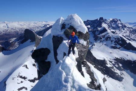 Store Austabotntind toppen klatring Hurrungane Jotunheimen