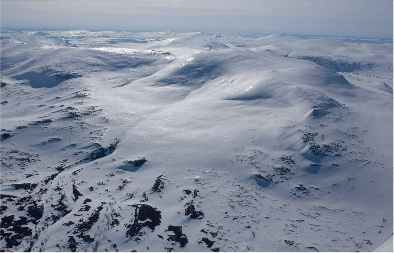 Heimdalshøe sett fra nord. Foto: Marte Stensland Jørgensen. / Trygge toppturer.