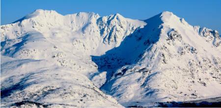 Justadtinden Kangerurtinden Lofoten Norge Topptur