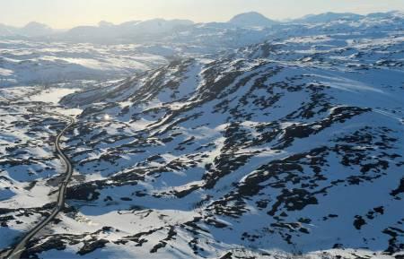 Bjørnfjell sett fra øst. Foto: Rune Dahl. / Trygge toppturer.
