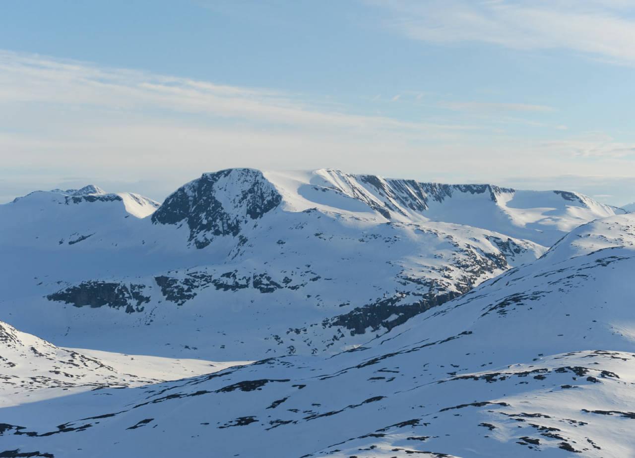 Blåisen fra nordøst. Foto: Rune Dahl / Toppturer rundt Narvik.