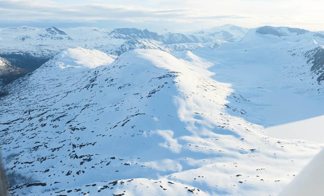 Loasevárri fra øst. Foto: Rune Dahl / Toppturer rundt Narvik.