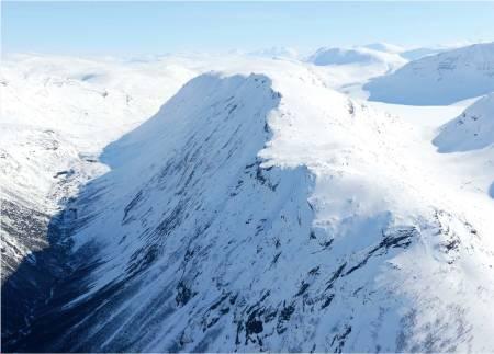 Middagsfjellet fra nord. Foto: Rune Dahl / Toppturer rundt Narvik.