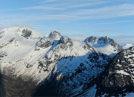 Nihkečohkka fra nord. Foto: Rune Dahl / Toppturer rundt Narvik