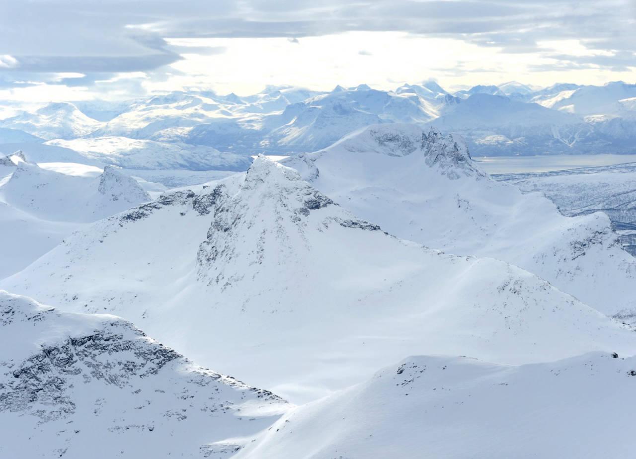 Oldertinden fra nord. Foto: Rune Dahl / Toppturer rundt Narvik