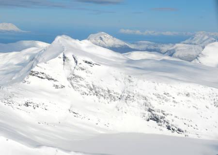Skittendalstinden fra sør. Foto: Rune Dahl / Toppturer rundt Narvik.
