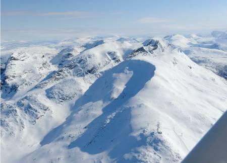 Tredjetoppen fra nordvest. Foto: Rune Dahl / Toppturer rundt Narvik