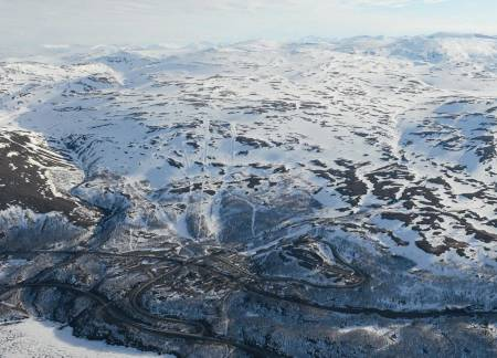 Gohpasčorru fra nord. Foto: Rune Dahl / Toppturer rundt Narvik.