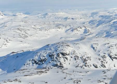 Nordalsfjell fra nord. Foto: Rune Dahl / Toppturer rundt Narvik.