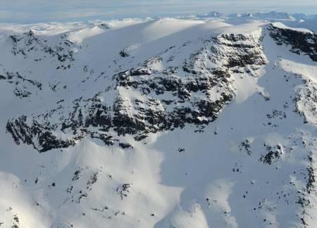 Vuoiddasriida fra nord. Foto: Rune Dahl / Toppturer rundt Narvik.