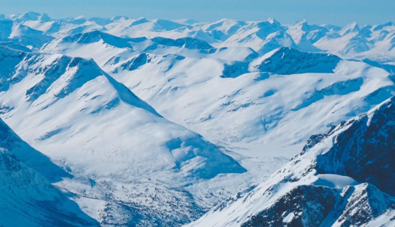 Taskedalskollen og Taskedalshornet 1406 moh