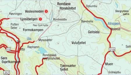 Kart for Rondane