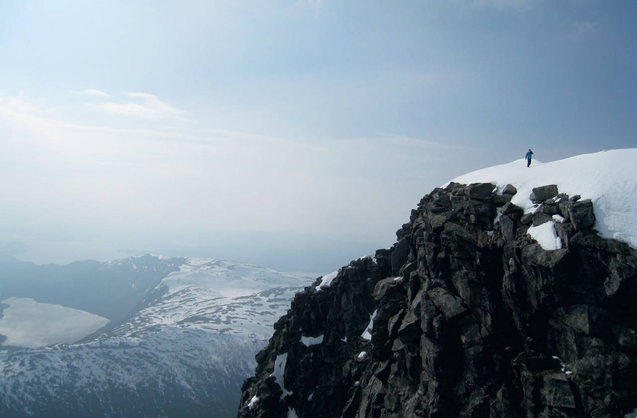 På vandring langs Gygrastolen. Foto: Asbjørn Hegdal