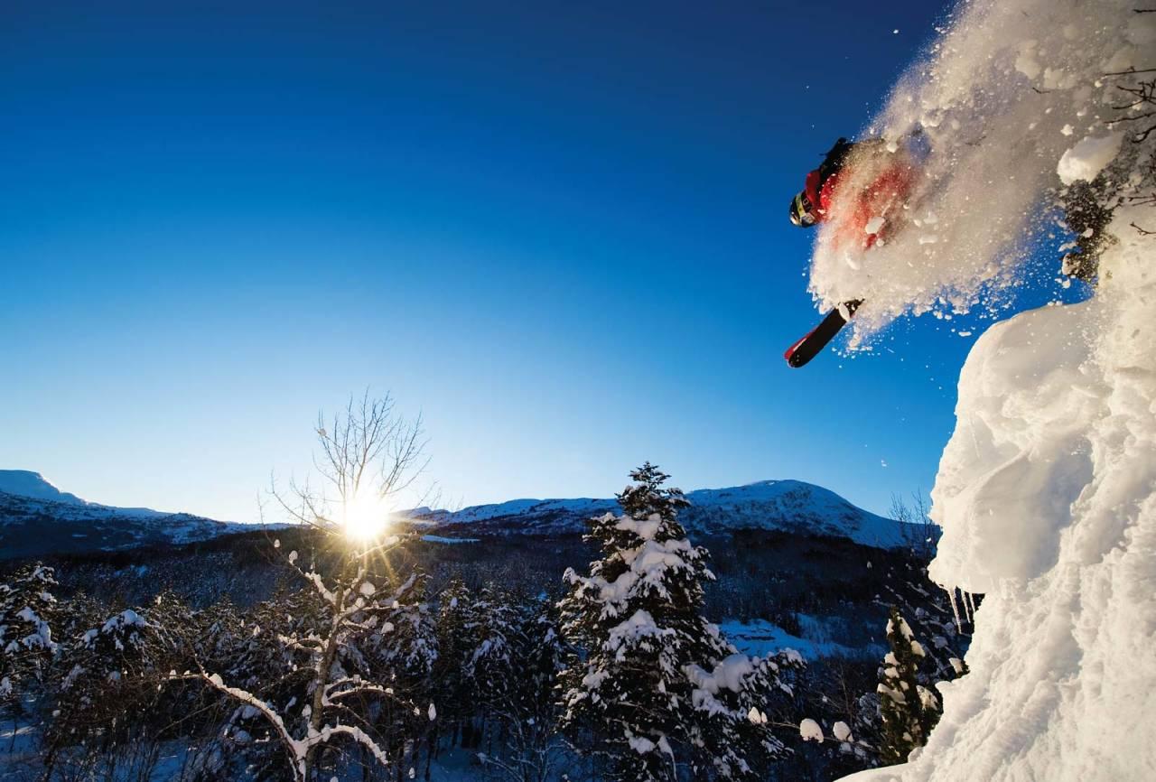 Sogndal skisenter hodlekve pudder klippedropp skikjøring freeride guide tips topptur randonee