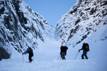 Plutselig ble det full vinter og solide snømengder!