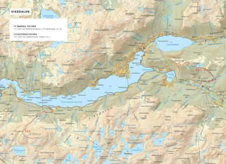 Oversiktskart over Viksdalen. Frå Toppturar i Sunnfjord.
