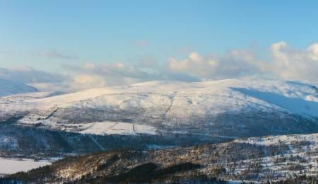 Ruta opp og ned frå Storsætra. Foto: Arnt Flatmo