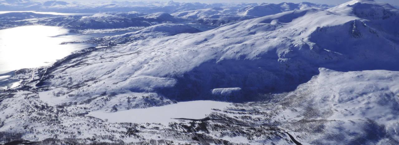 Haukebøtinden 906 moh. Toppturer rundt Harstad