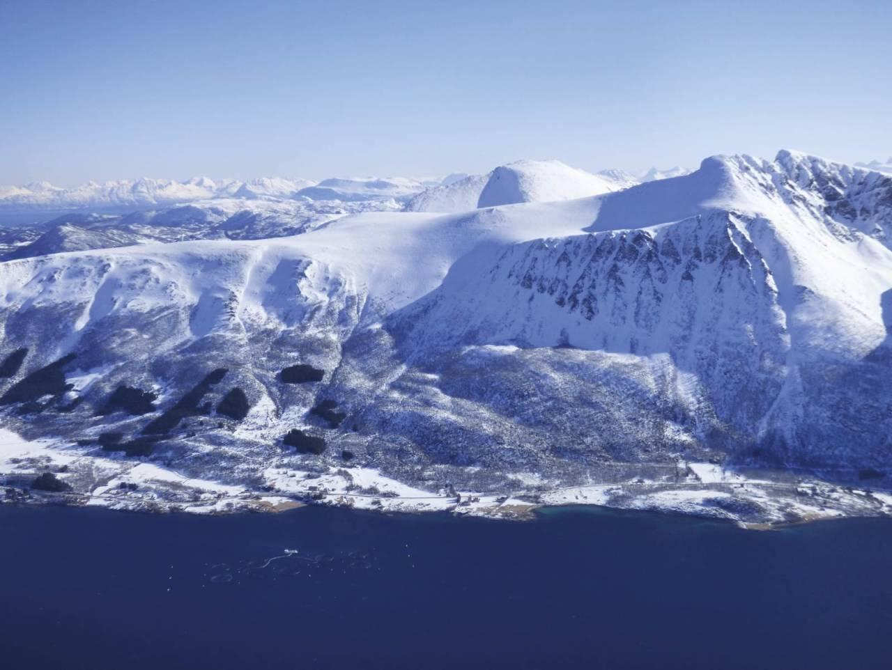 Horntindan 910 moh fra Toppturer rundt Harstad