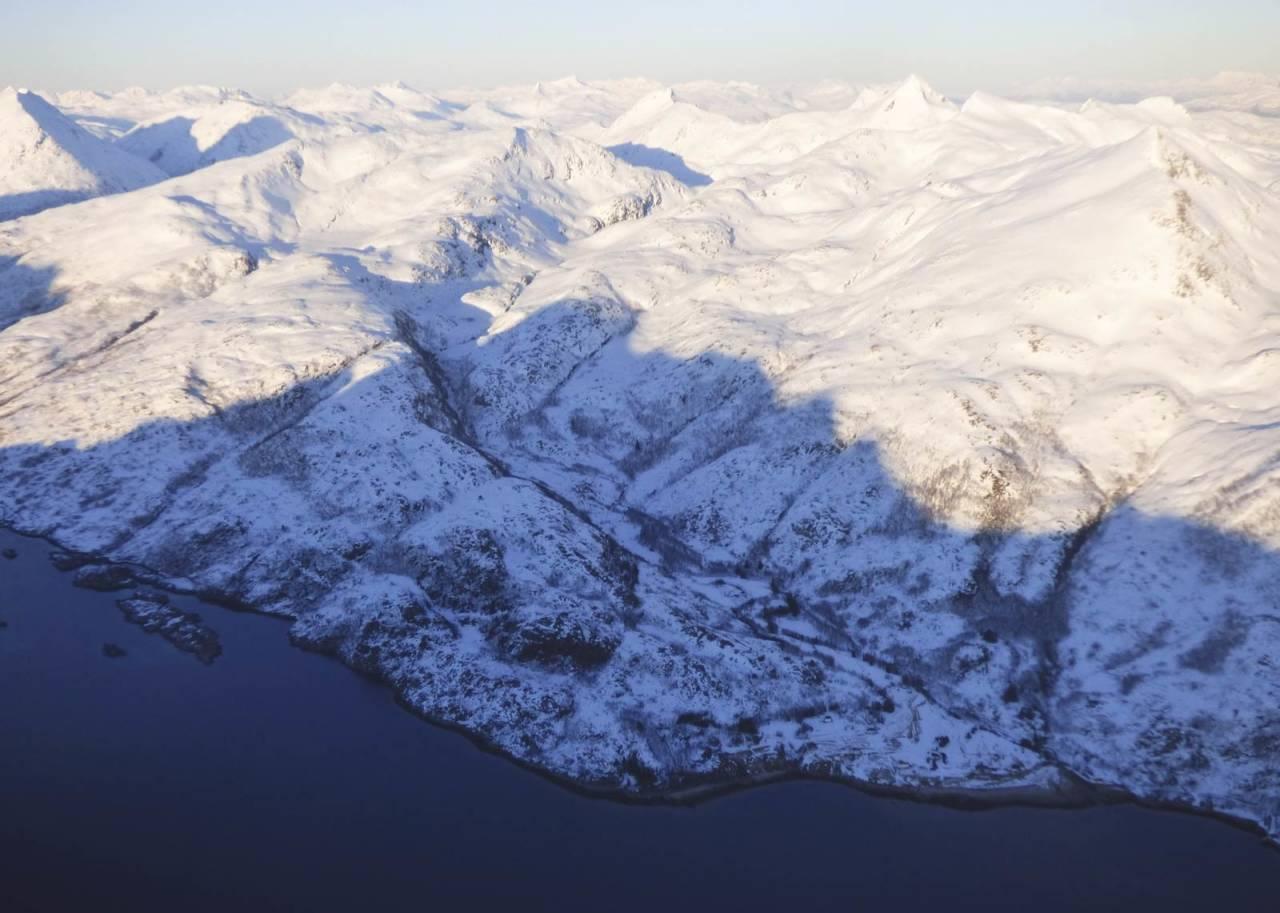 Kvasstinden 831 moh fra Toppturer rundt Harstad