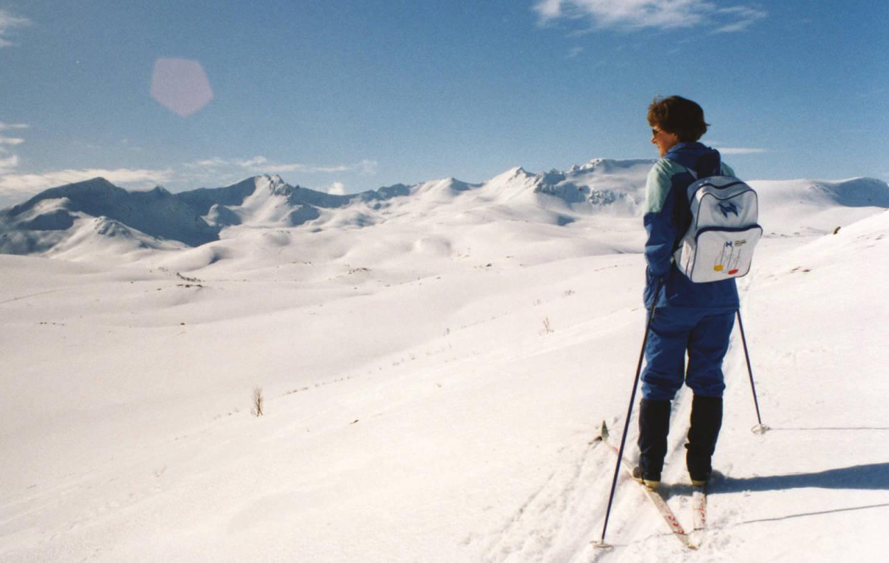 Monika Dramsdahl på vei opp mot «Holla» på 80-tallet.Foto: Harald Dramsdahl