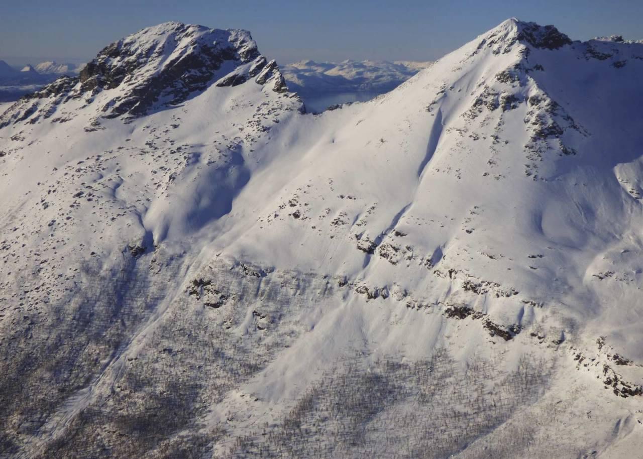 Vasskartinden 1140 moh fra Toppturer rundt Harstad