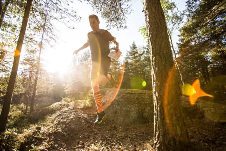 LØP: Bruk kartet når du løper. Foto: Christian Nerdrum