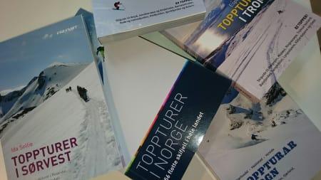 TOPPTURINSPIRASJON: Om du skal på topptur i vår, finner du garantert en egent topp i av av Fri Flyts mange guidebøker