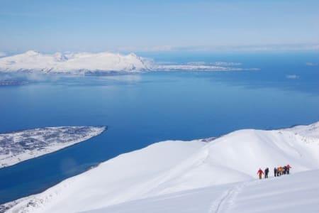 KLASSE TO: Fra Storgalten i Troms, som er klassifisert som utfordrende terreng. Foto: Espen Nordal