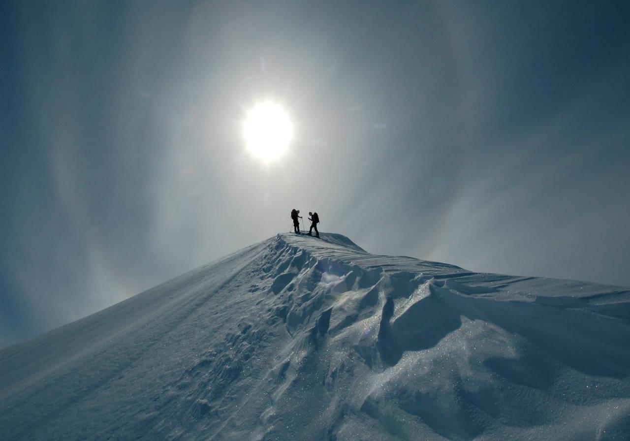 Nordøstryggen på Øvre Staupåtinden. Foto: Torgeir Kjus. / Toppturer rundt Bodø.